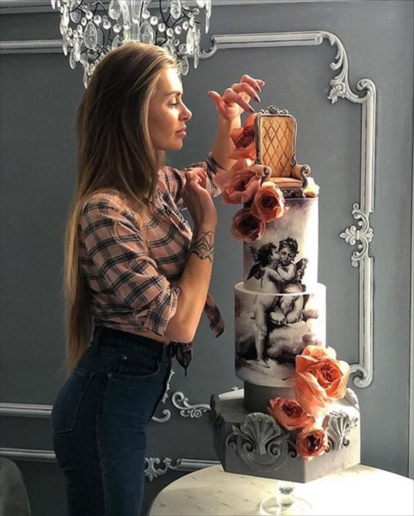 ロシアの美人パティシエが作るケーキ 13