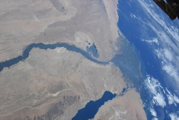 宇宙から撮影したナイル川の写真1