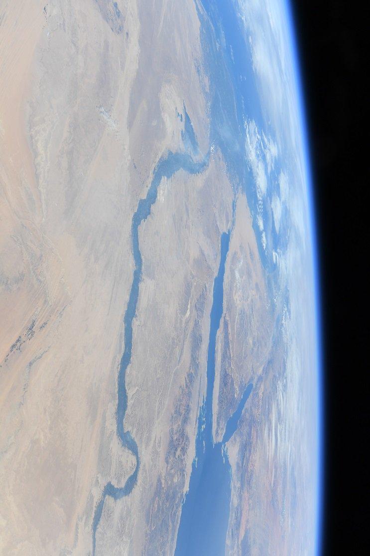 宇宙から撮影したナイル川の写真2