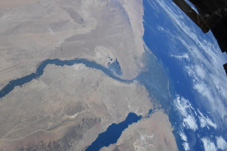 宇宙から撮影したナイル川の写真3