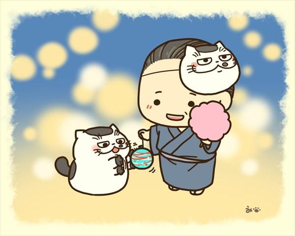 おじさまと猫 夏祭り