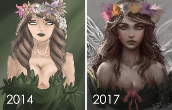 昔描いた絵を今描いてみた 8