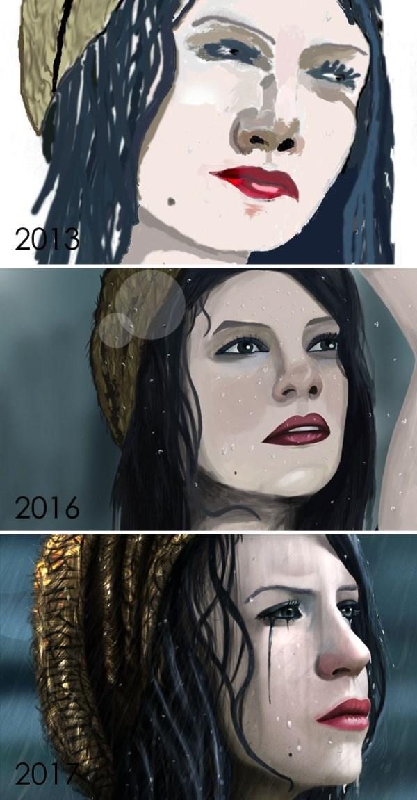 昔描いた絵を今描いてみた 16