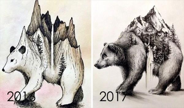 昔描いた絵を今描いてみた 4