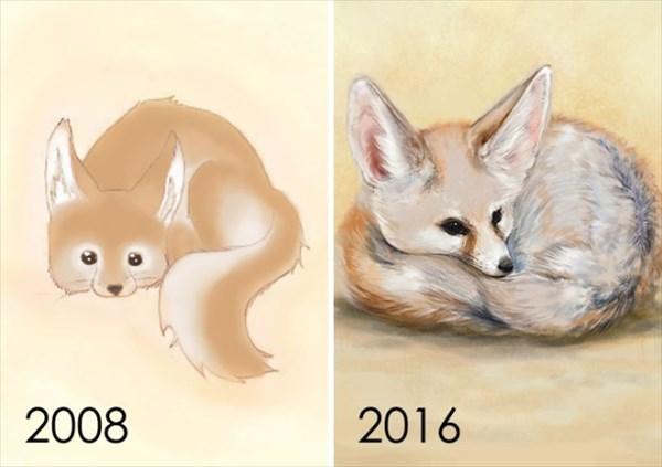 昔描いた絵を今描いてみた 9