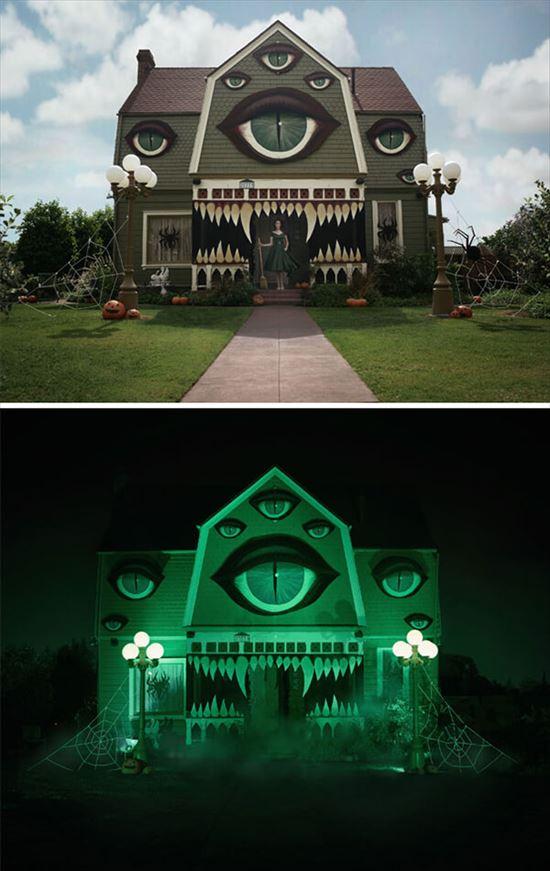 ハロウィンの装飾が怖すぎる家 写真2