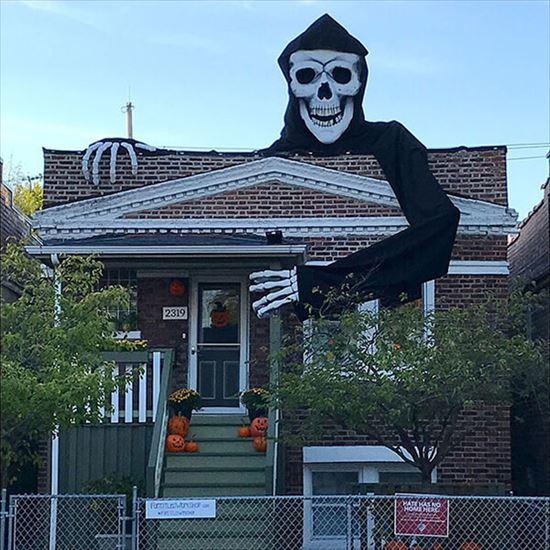 ハロウィンの装飾が怖すぎる家 写真15