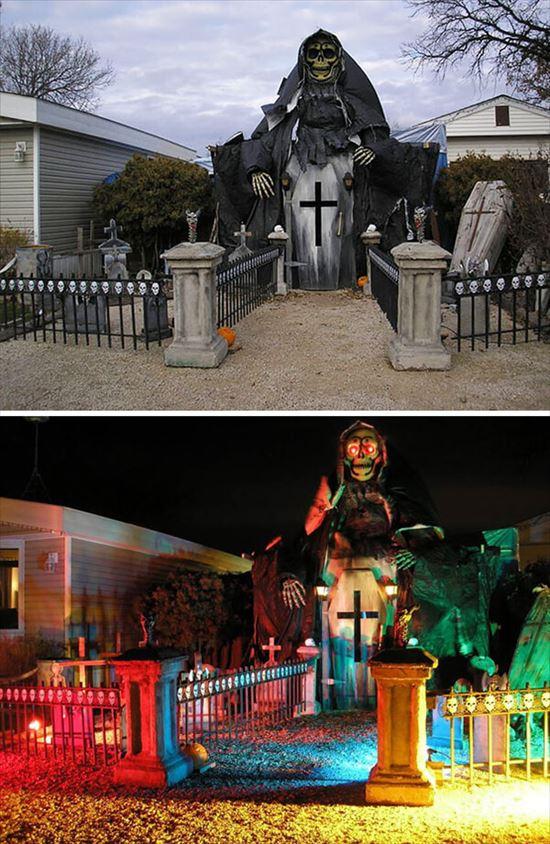 ハロウィンの装飾が怖すぎる家 写真21