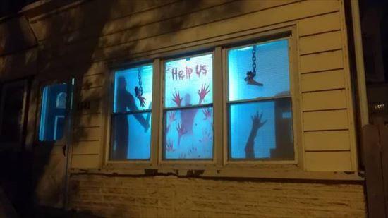 ハロウィンの装飾が怖すぎる家 写真13