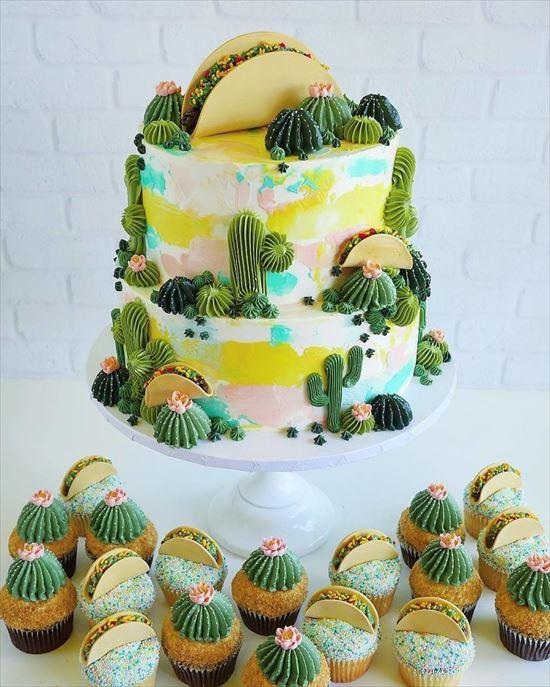 ぷくぷく可愛い 多肉植物ケーキ 写真3