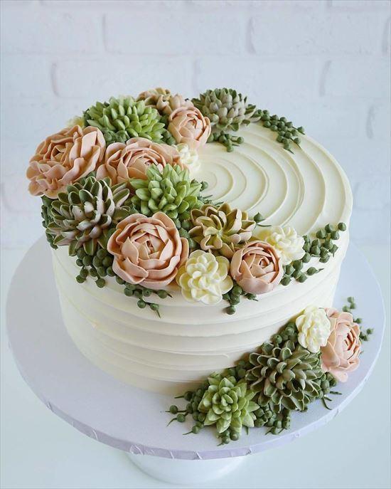 ぷくぷく可愛い 多肉植物ケーキ 写真9
