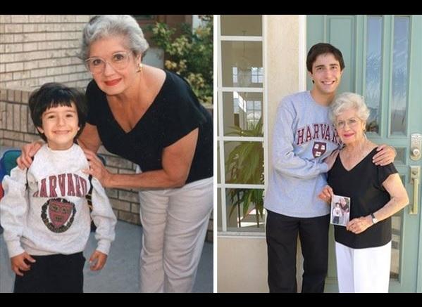 過去の写真を現在で同じように撮ってみた 家族1
