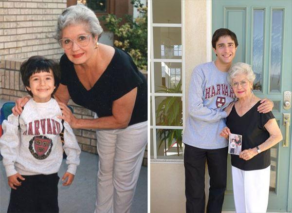 過去の写真を現在で同じように撮ってみた 家族6