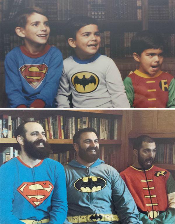 過去の写真を現在で同じように撮ってみた 家族15