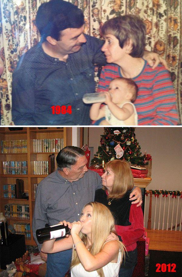 過去の写真を現在で同じように撮ってみた 家族14