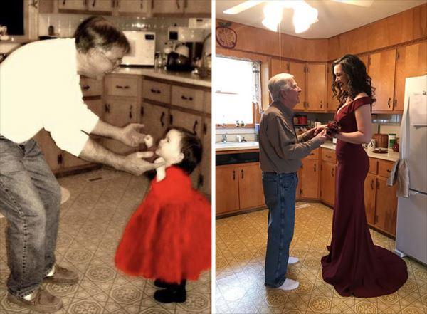 過去の写真を現在で同じように撮ってみた 家族16