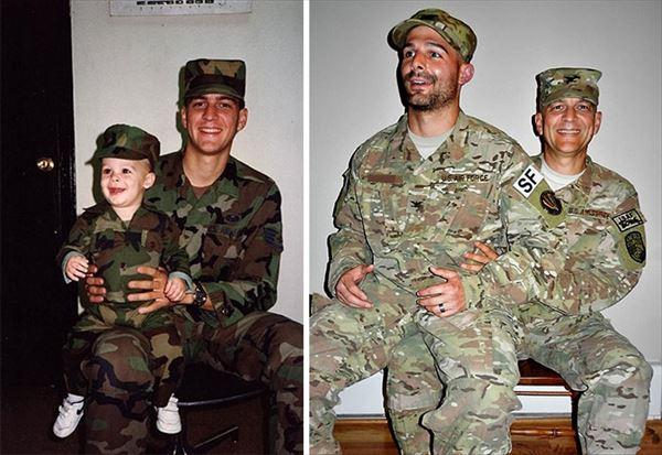 過去の写真を現在で同じように撮ってみた 家族4