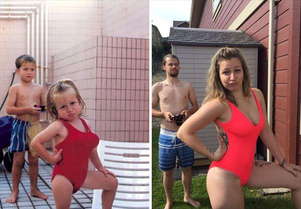 過去の写真を現在で同じように撮ってみた 家族5