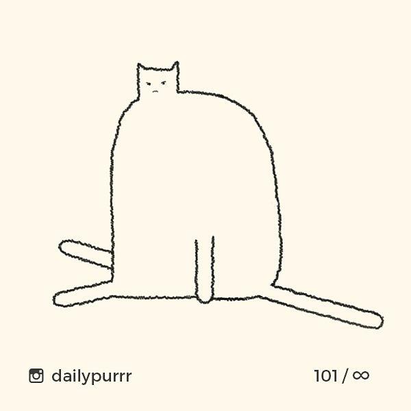 シンプル・イズ・ベスト!最小限の表現で「猫」を描いたイラストが可愛い 画像22