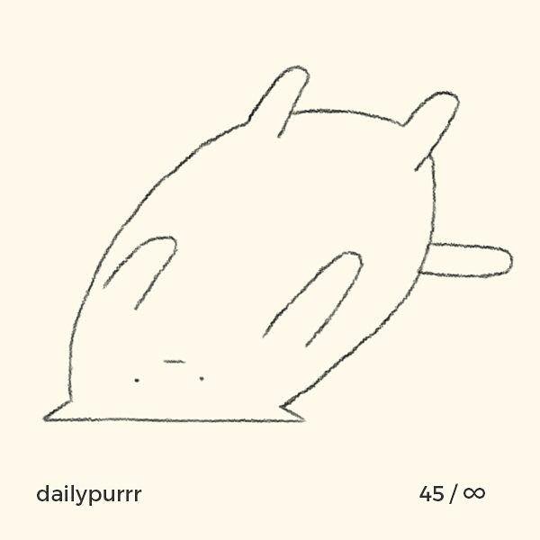 シンプル・イズ・ベスト!最小限の表現で「猫」を描いたイラストが可愛い 画像28
