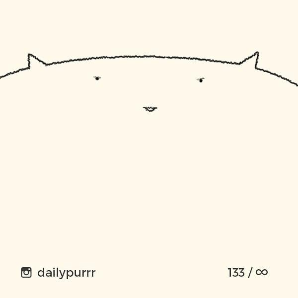 シンプル・イズ・ベスト!最小限の表現で「猫」を描いたイラストが可愛い 画像10