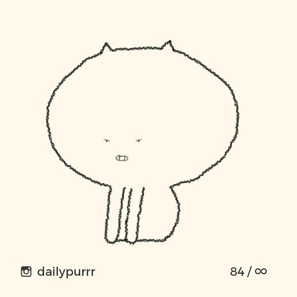 シンプル・イズ・ベスト!最小限の表現で「猫」を描いたイラストが可愛い 画像14
